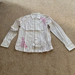 191 Unlimited Pink And White Shirt Size:M.